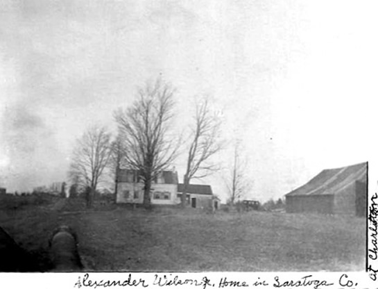 Home of Alexander Wilson Jr and Eunice Charlotte (Seeley) Wilson in USA, NY, Saratoga, Charlton