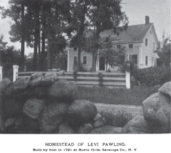 Home of Levi and Jane (Wilson) Pawling in USA, NY, Saratoga, Burnt Hills